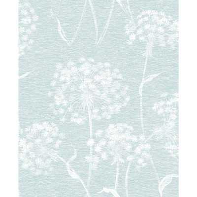 56.4 sq. ft. Carolyn Light Blue Dandelion Wallpaper - Home Depot