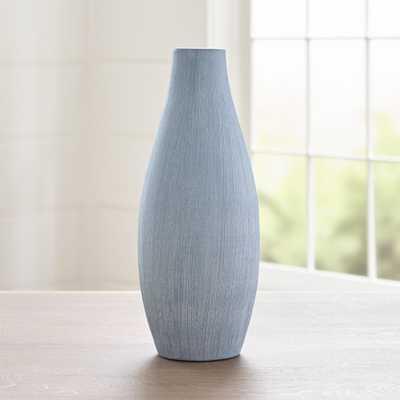 Annisa Light Blue Short Vase - Crate and Barrel