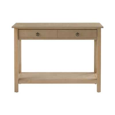 Titian Driftwood (Brown) Storage Console Table - Home Depot