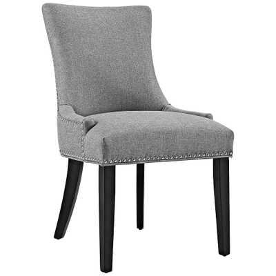 Marquis Light Gray Fabric Dining Chair - Style # 33T48 - Lamps Plus