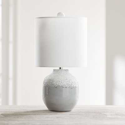 Quinn Grey and White Table Lamp - Crate and Barrel