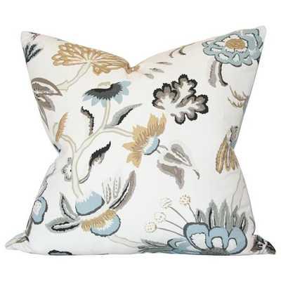 Serenity Pebble - 22x22 pillow cover / pattern on front, solid on back - Arianna Belle