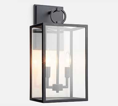 Manor Indoor/Outdoor Glass Sconce, - Pottery Barn
