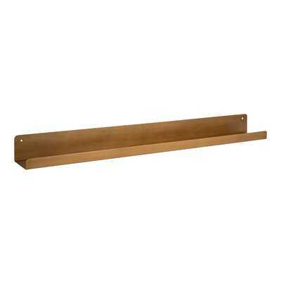 "Kate And Laurel Mezzo Modern Metal Ledge Shelf 36"" Gold - Wayfair"