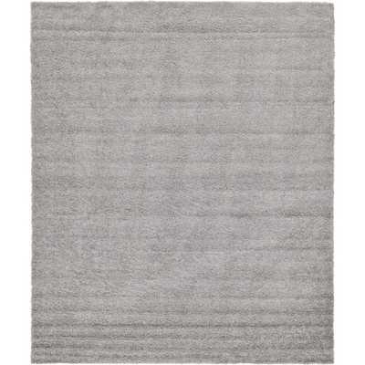 Solid Shag Cloud Gray 12' x 15' Rug - Home Depot