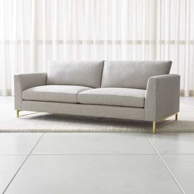Tyson Sofa with Brass Base - Crate and Barrel