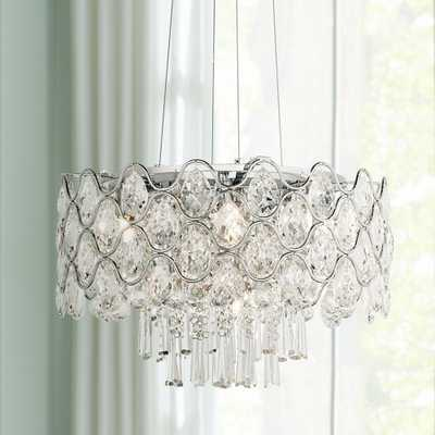 """Angotti 9-Light 19"""" Round Crystal Chandelier - Style # 6G983 - Lamps Plus"""