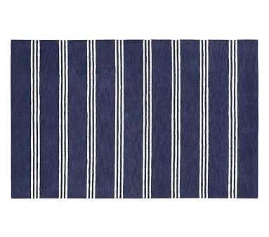 Blake Stripe Rug, 3x5', Navy - Pottery Barn Kids