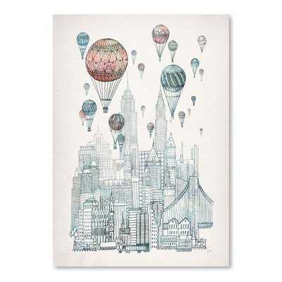 'Voyages Over New York' Print - AllModern