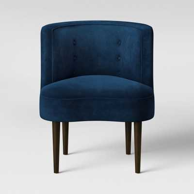 Clary Curved Back Accent Chair Navy Velvet - Opalhouse - Target