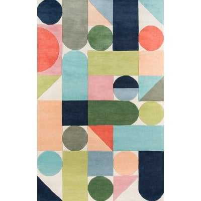 Wright Hand-Tufted Wool Blue/Green Area Rug - AllModern