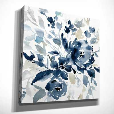 'Indigo Garden I' Oil Painting Print on Wrapped Canvas - Wayfair