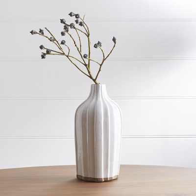"Faye 12"" Cream Terra Cotta Vase - Crate and Barrel"