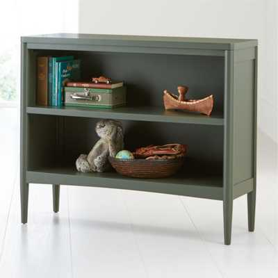 Hampshire Small Olive Green Bookcase - Crate and Barrel