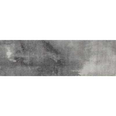 Wash Grey Watercolor Runner 2.5'x8' - CB2