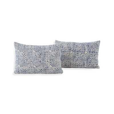 """Maja Mosaic Pillows 24""""x16"""", Set of 2 - Crate and Barrel"""