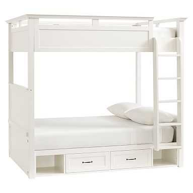 Hampton Bunk Bed, Full, Simply White - Pottery Barn Teen