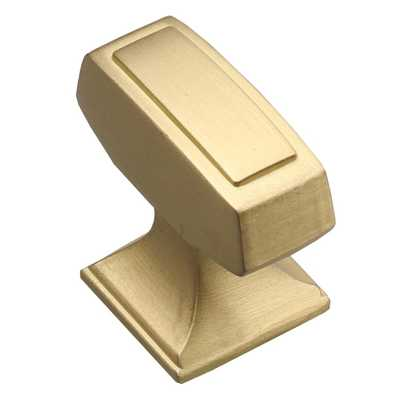 GlideRite 1-1/8 in. Satin Gold Deco Rectangle Cabinet Knobs (10-Pack) - Home Depot