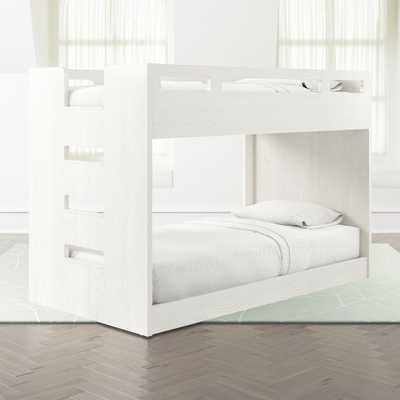 Abridged White Glaze Low Twin Bunk Bed with Left Ladder - Crate and Barrel