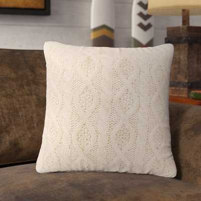 Polson Cable Knit Throw Pillow - Wayfair