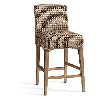 Seagrass Barstool, Counter Height, Gray Wash - Pottery Barn