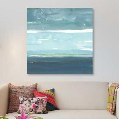 'Teal Horizon II' Painting Print on Canvas - Wayfair