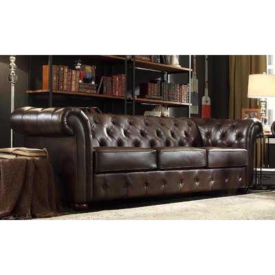 Vegard Chesterfield Faux Leather Sofa - Wayfair