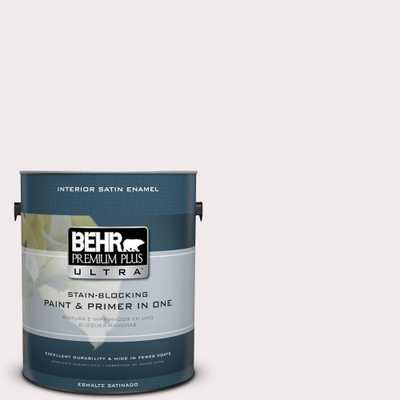 BEHR Premium Plus Ultra 1 gal. #790A-1 White Dogwood Satin Enamel Interior Paint and Primer in One, Whites - Home Depot
