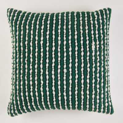 Handwoven Textured Pillow in Green - Home Depot