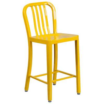 24.5 in. Yellow Bar Stool - Home Depot