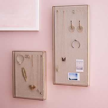 Golden Glass Shadow Box, Wall Mounted, Large - West Elm