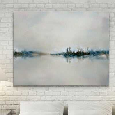 'Calm Morning' Watercolor Painting Print on Wrapped Canvas - Wayfair