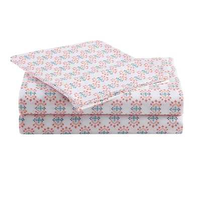 Ditsy Medallion Twin Sheet Set by 1888 Mills, Multi - Home Depot
