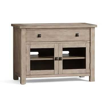 Benchwright TV Stand, Small, Gray Wash - Pottery Barn