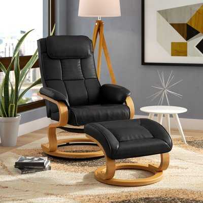 Medford Manual Swivel Recliner with Ottoman - Wayfair