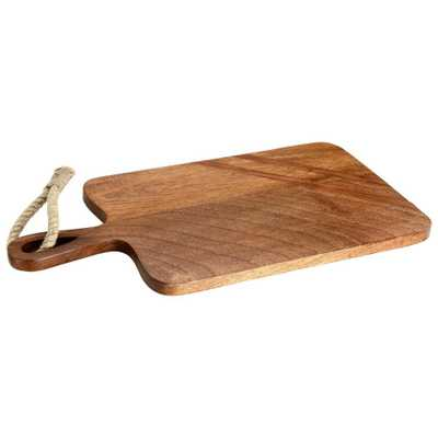 Paddle Shaped Wooden Cutting Board with Tied Rope - Home Depot