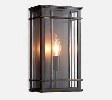 Shiloh Indoor/Outdoor Sconce, Bronze - Pottery Barn