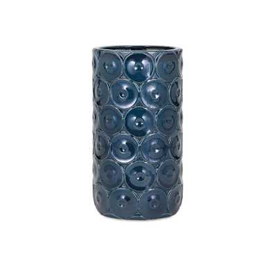 Imax Medium Blue Ceramic Decorative Vase, Blues - Home Depot