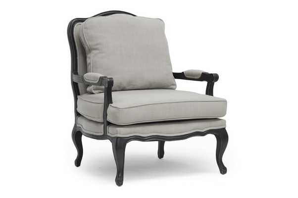 Baxton Studio Antoinette Classic Antiqued French Accent Chair - Lark Interiors