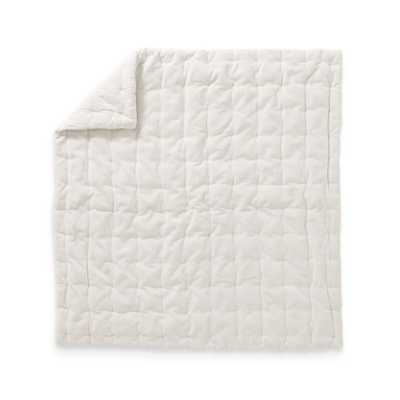Velvet Cream Baby Quilt - Crate and Barrel