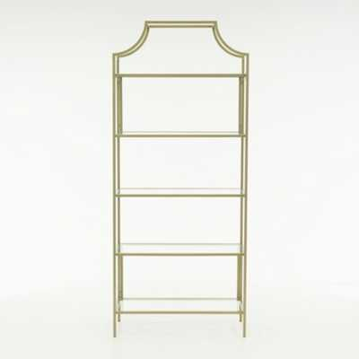 International Lux Satin Gold Bookcase - Home Depot