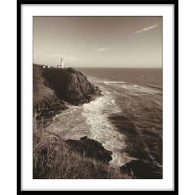 """PTM Images 9.75 in. x11.75 in. """"North Head Lighthouse""""Framed Wall Art, Black - Home Depot"""