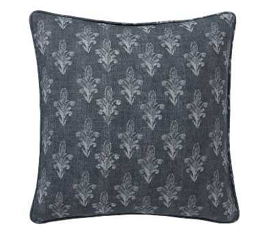 "Linnea Print Pillow Cover, Blue Multi, 20"" - Pottery Barn"