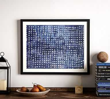 "Indigo Abstract Framed Print, Indigo Dot, 24 x 30"" - Pottery Barn"