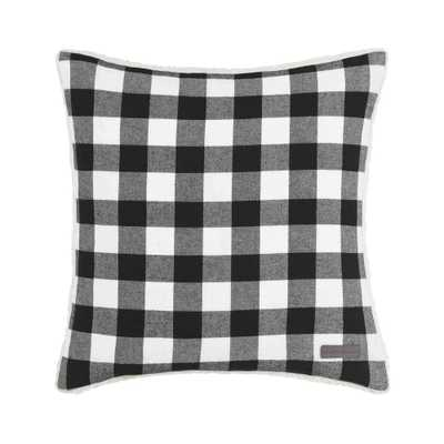 Cabin 20 in. x 20 in. Black Square Pillow - Home Depot