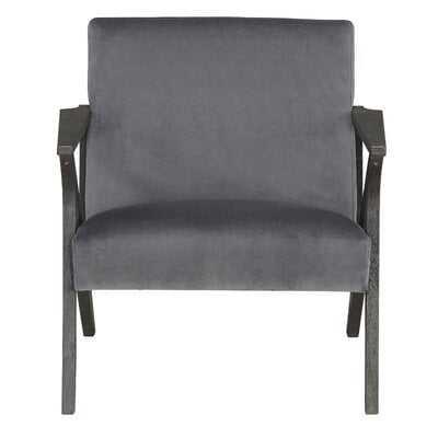 Accent Chair, Gray Velvet - Wayfair