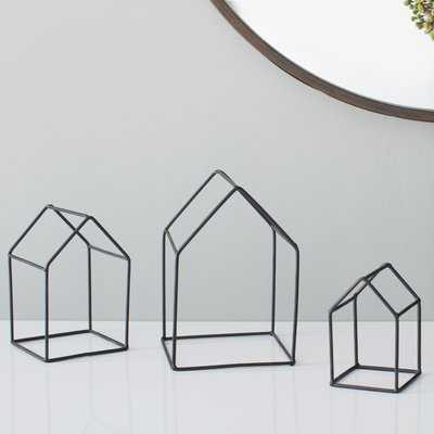 House 3 Piece Sculpture Set - Wayfair
