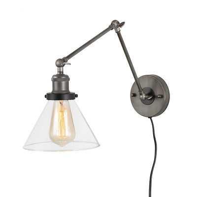 Wrought Studio Avon 1-Light Plug-in Armed Sconce - Wayfair