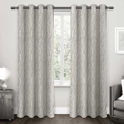 Prower Floral Room Darkening Thermal Grommet Curtain Panels, Set of 2 - AllModern