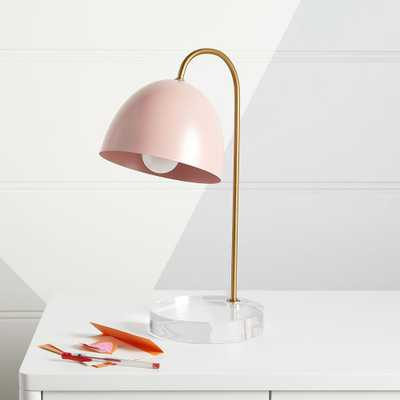 Glam Pink and Gold Table Lamp - Crate and Barrel